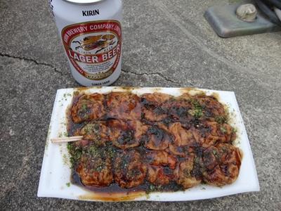 たこ焼きとビール