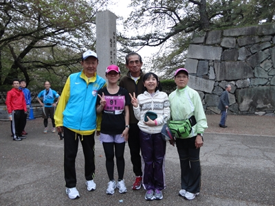 Y田さん、私、Nakayoshiさん、ともちゃん、Y田さんの奥さま