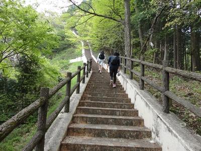 阿木川ダムの階段