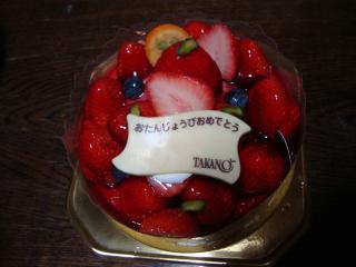 果物やさんのケーキ