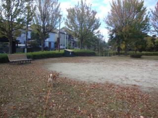 冬支度の公園