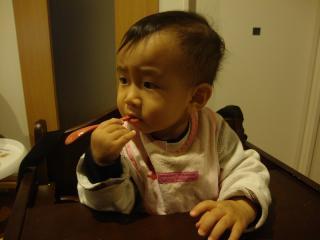 渋い1歳児