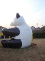 パンダの背後