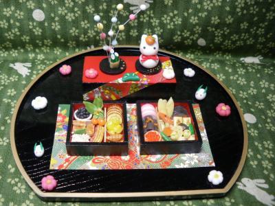 正月飾り 兎餅おせち
