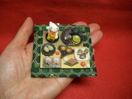 福招き猫と和菓子