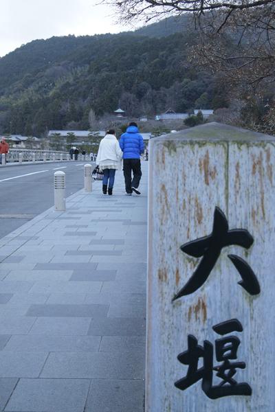 06・渡月橋を渡る