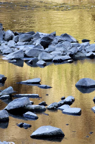 10・川面に映える
