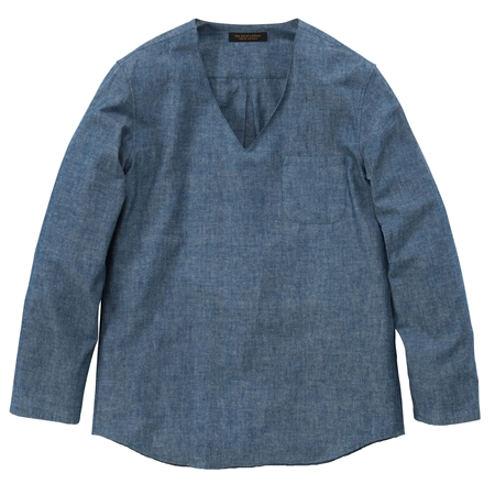 SH09 PULLOVER V-NECK SHIRTS CHAMBRAY_R