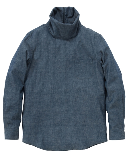 SH10 TURTLENECK SHIRTS CHAMBRAY_R