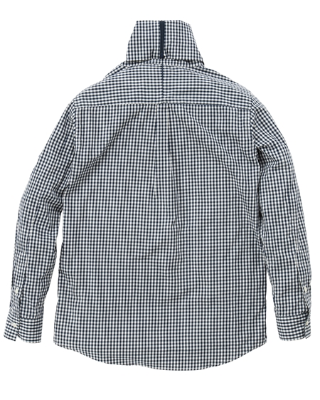 SH10 TURTLENECK SHIRTS GINGHAMCHECK NAVY(2)_R