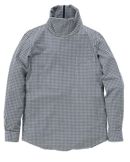 SH10 TURTLENECK SHIRTS GINGHAMCHECK NAVY_R