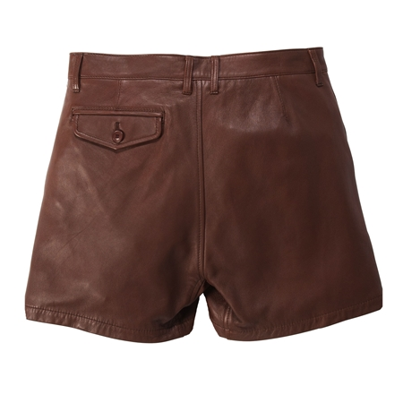 SO05 LEATHER SHORTS BROWN(2)_R