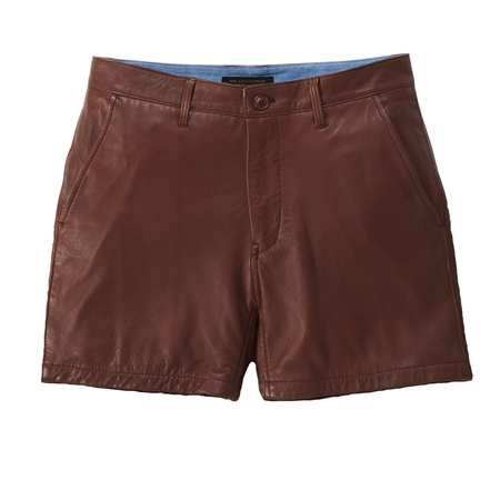SO05 LEATHER SHORTS BROWN_R