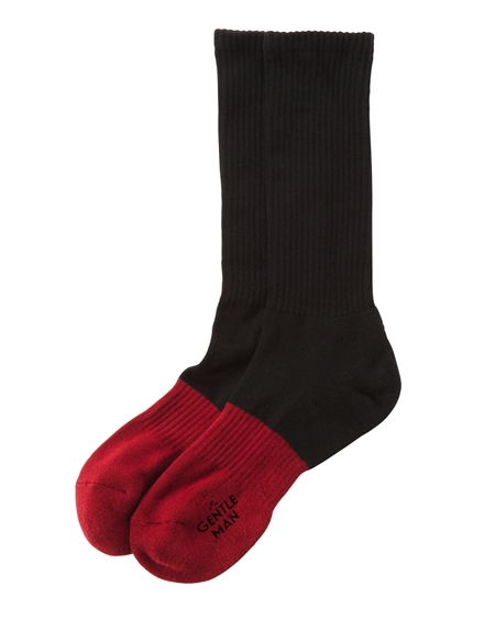 AC20 2-COLORED SOCKS BLACK×BURGUNDY_R