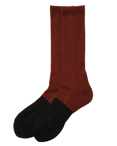 AC20 2-COLORED SOCKS BROWN×BLACK_R