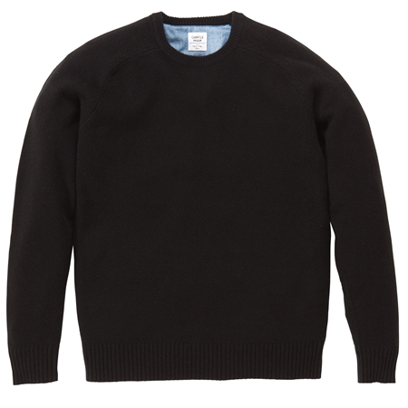 KN03 CREW-NECK KNIT BLACK_R