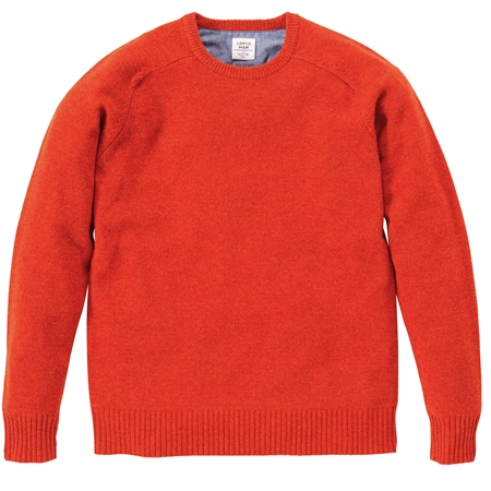 KN03 CREW-NECK KNIT ORANGE_R