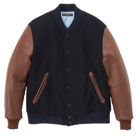 CO06 AWARD JACKET NAVY×BROWN_R