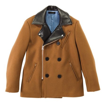 CO18 WOOL RIDERS PEA COAT CAMEL_R