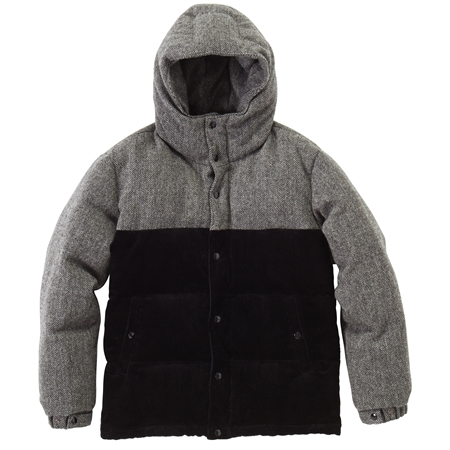 CO23 TWEED DOWN JACKET BLACK(2)_R