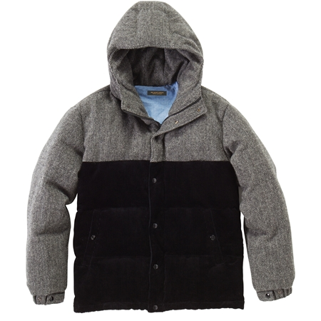 CO23 TWEED DOWN JACKET BLACK_R