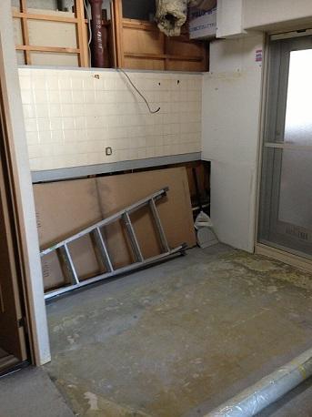 キッチン解体終了!