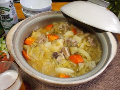 ポトフ鍋&サーモンのカルパッチョ&セロリサラダ