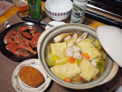 おでん風肉団子鍋&サーモンカルパッチョ