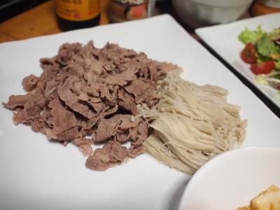 晩酌☆麻婆豆腐&牛えのきしゃぶ&ツナサラダ