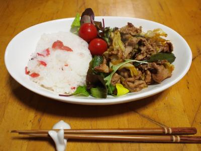 豚肉&キャベツ炒めプレート