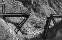 昔の氷河特急の鉄橋