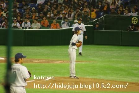 野上投手2番手