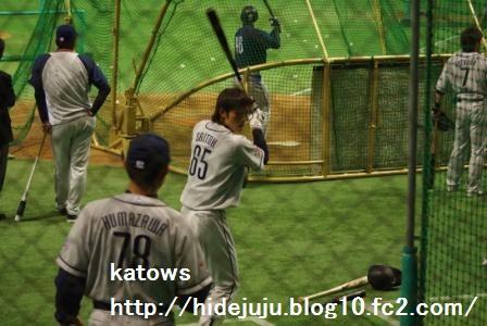 斉藤選手スイング練習