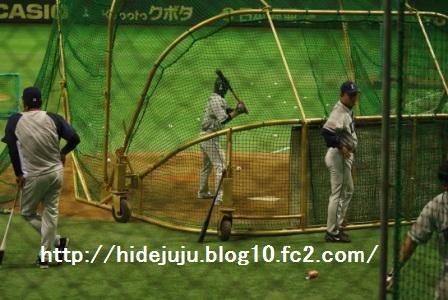 片岡選手打撃練習1