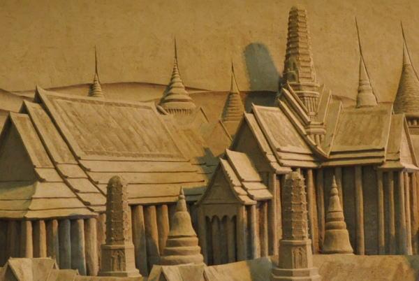 バンコクの王宮とプラナコーンの街並み 03