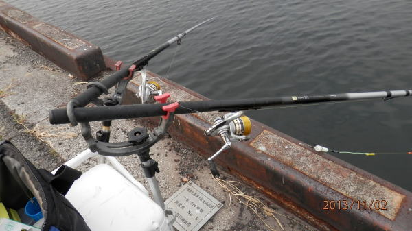 さてさて、釣れるのだろうか ・・・