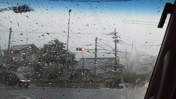 突然、どエラい雨が ・・・