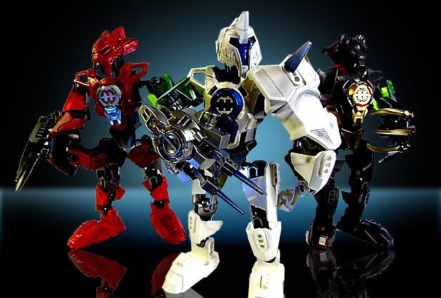 三人のロボット戦士