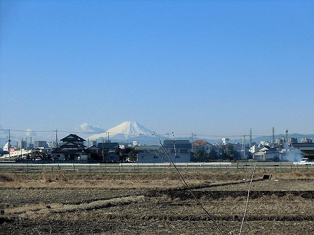 富士山を拝む