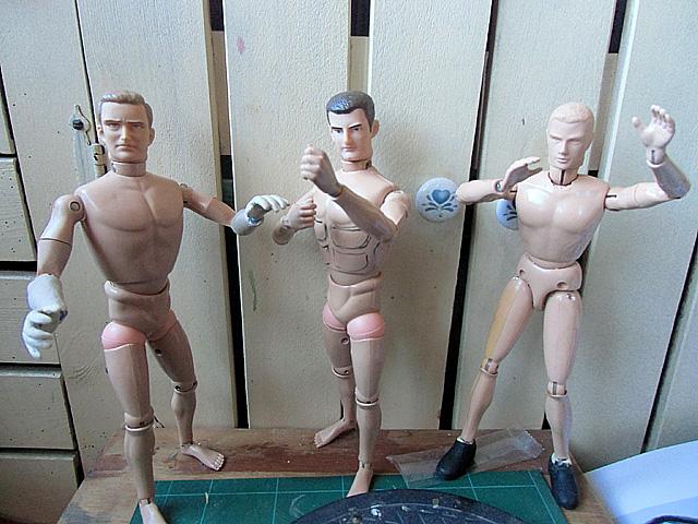 男三人基礎工事終了