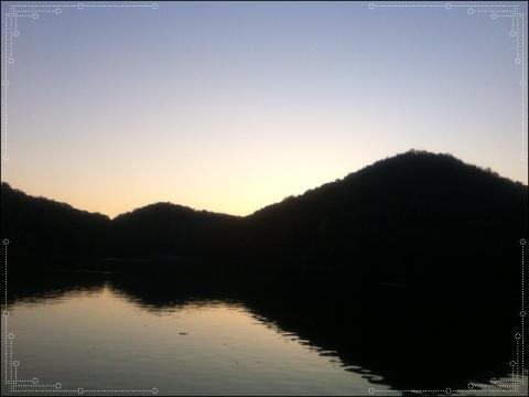日の入り直後