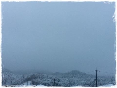 雪の比叡山?!