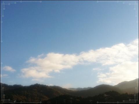 今朝の比叡山の横・・・(汗)