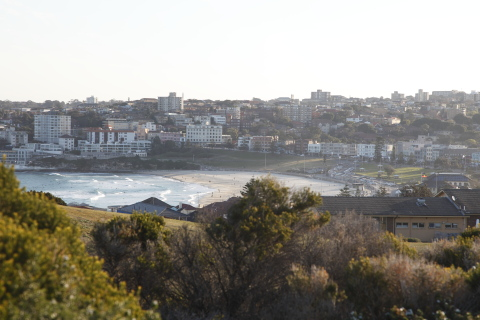 bondi beach from golf club