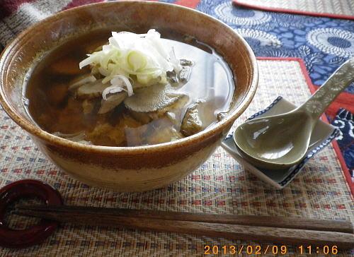 2013年2月9日(土)たくちゃん作ゴボウ入り卵とじ蕎麦