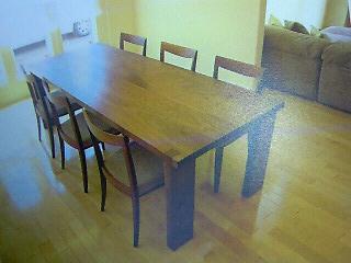 リッツウェル ダイニングテーブル オールナット