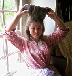 6_Abby with hair roller
