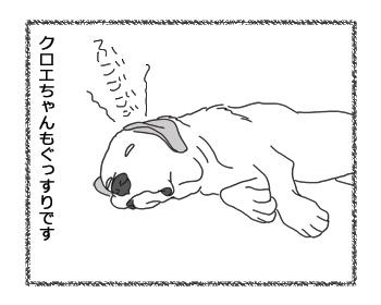 羊の国のラブラドール絵日記シニア!!「伊賀か甲賀か」4コマ2