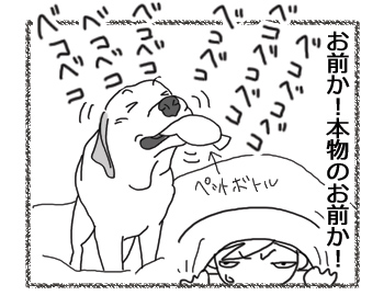 羊の国のラブラドール絵日記シニア!!「ペットボトル鼓笛隊、再び!」4