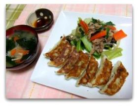 餃子+お味噌汁